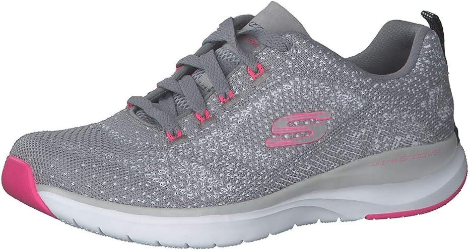 Skechers Damen Ultra Groove Sneaker, Grau Hot Pink: Amazon DsGpr