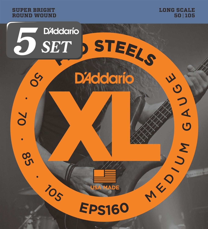 D'Addario ダダリオ ベース弦 プロスティール Long Scale .045-.100 EPS170 x 5セット 【国内正規品】 B009RIJZB6 .045-.100 (4弦/Long)|5セット.045-.100 (4弦/Long)