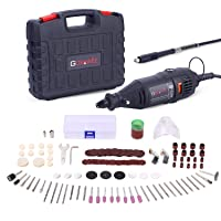 GOXAWEE Rotary Tool Kit with MultiPro Keyless Chuck and Flex Shaft - 140pcs Accessories...
