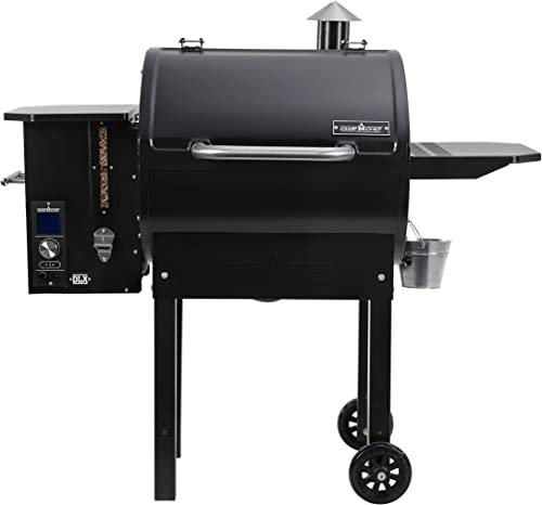 Camp Chef SmokePro DLX Pellet Grill w New PID Gen 2 Digital Controller – Black