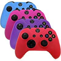 HDE Controller Skins for Xbox One Controller 4 Pack Combo Silicone Rubber Protective Grip Case Cover for Microsoft Xbox…