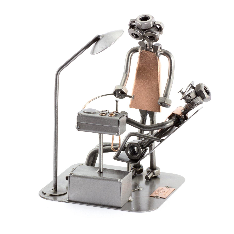 Steelman24 I Figurine en m/étal Dentiste I Made in Germany I Id/ées Cadeaux I Sculpture d/'Acier I Hommes de m/étal