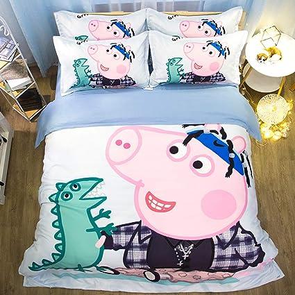 Edredon Nordico Peppa Pig.Zhouing Juego De Sabanas Peppa Pig Juego De Coleccion De Ropa De