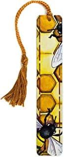 product image for Honeybees Art by Christi Sobel - Handmade Wooden Bookmark with Tassel - Search B071VKMB3P for Personalized Version