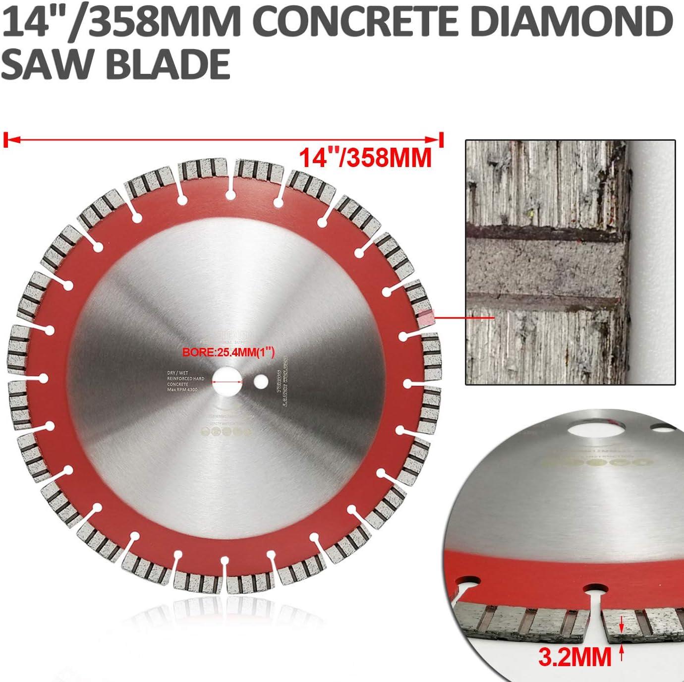 "16/"" Laser Welded Segmented Diamond Blade for Hard Concrete Demolition"