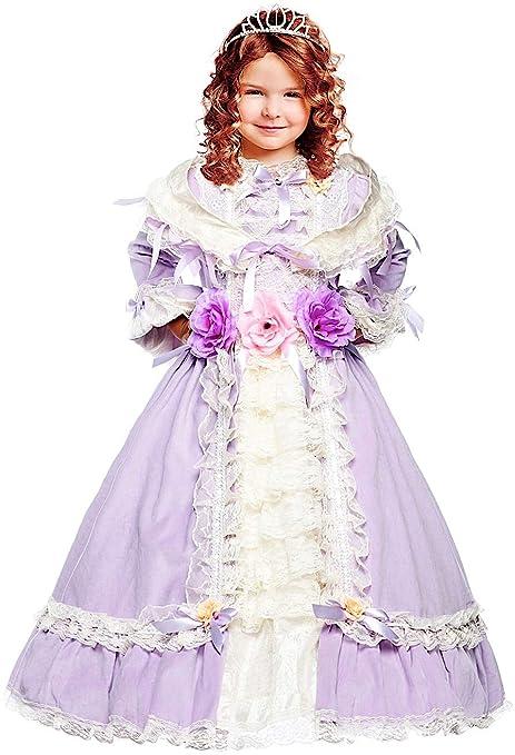 Costume di Carnevale da Principessa Sofia Vestito per Ragazza Bambina 7-10  Anni Travestimento Veneziano b9ddc5870d5