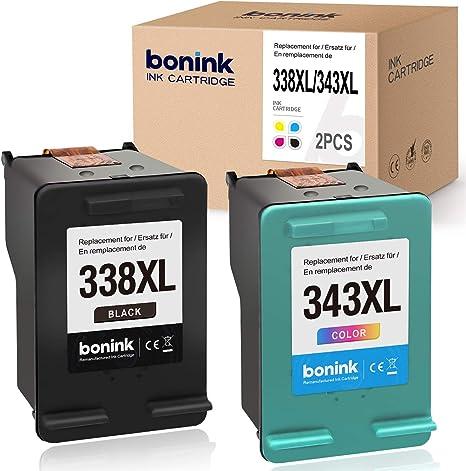 BONINK Compatible HP 338XL 343XL 338 XL 343 XL Impresora para HP ...