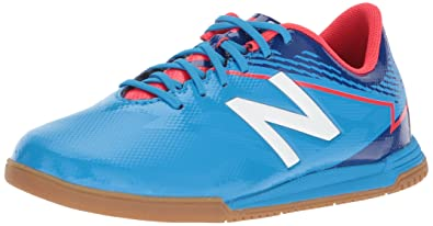 d0a52051d55a2 New Balance Boys' Furon 3.0 Dispatch Indoor Soccer Shoe, Bolt/Team Royal,