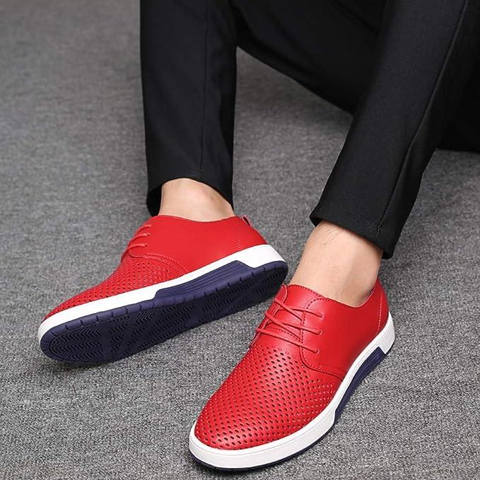 ANTAZ Zapatos Comodos Oxford de Cordones para Hombre Cuero de ...