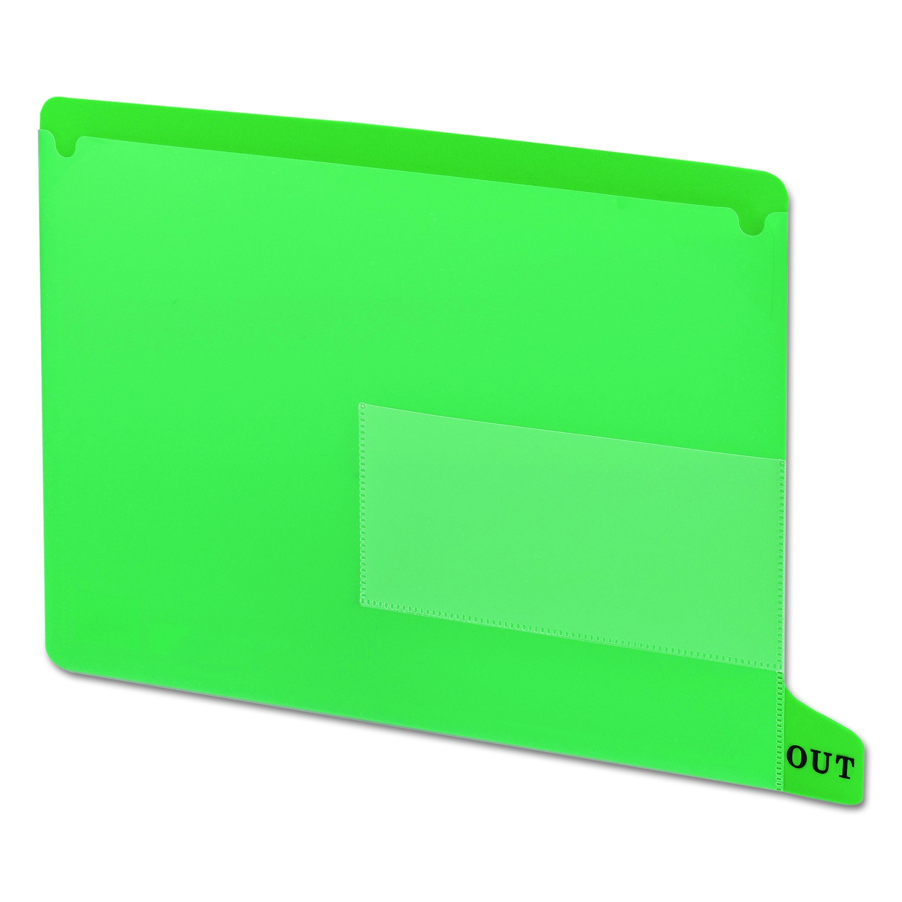 Smead End Tab Poly Out Guide, Two Pocket, Bottom Position Tab, Letter Size, Green, 25 per Box (61952) by Smead
