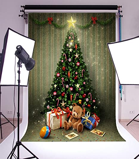 laeacco vinyl 6x8ft photography background holiday party greeting card christmas decorations new year gifts ball star