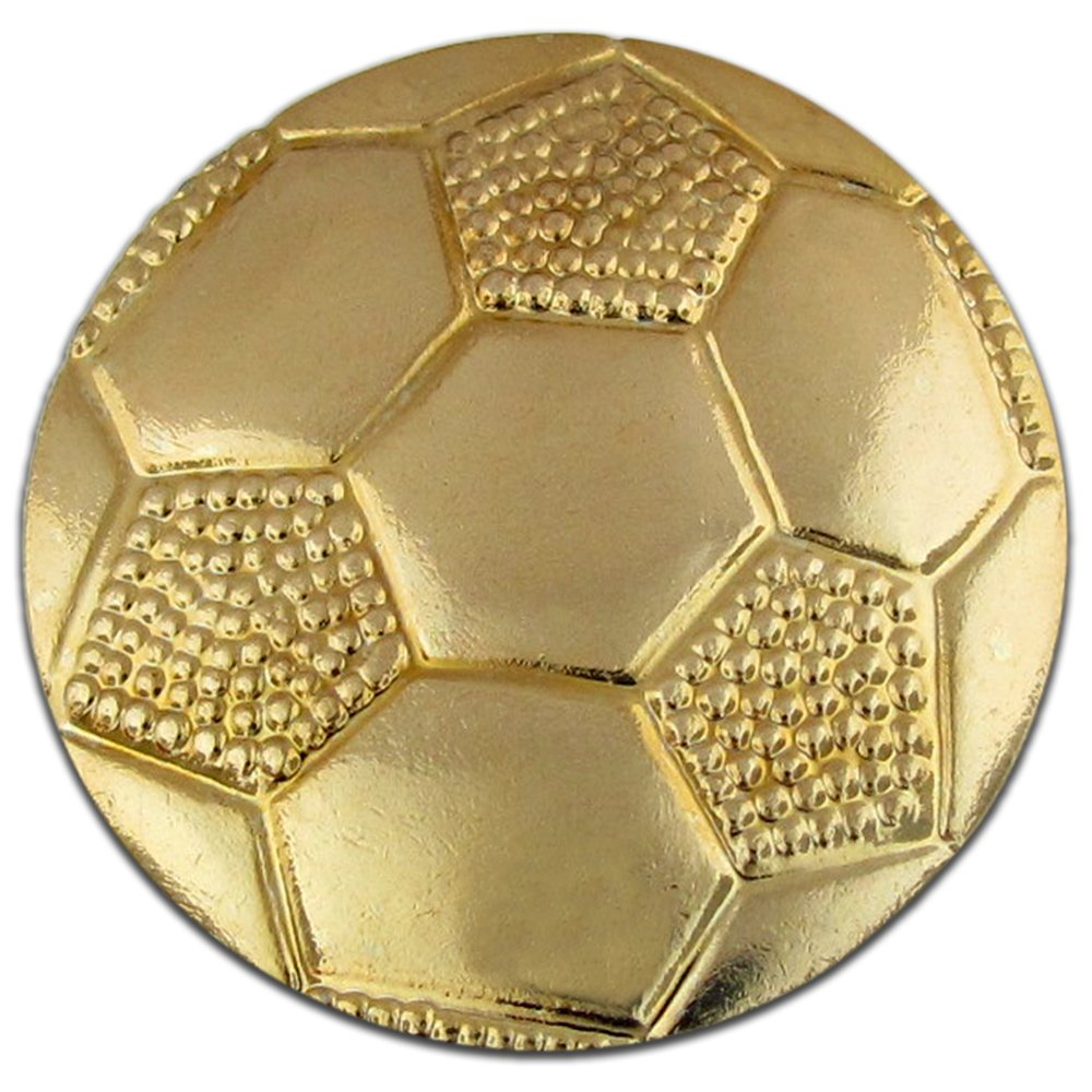 Soccer Ball Gold Chenille Sports Lapel Pin by JDS Industries