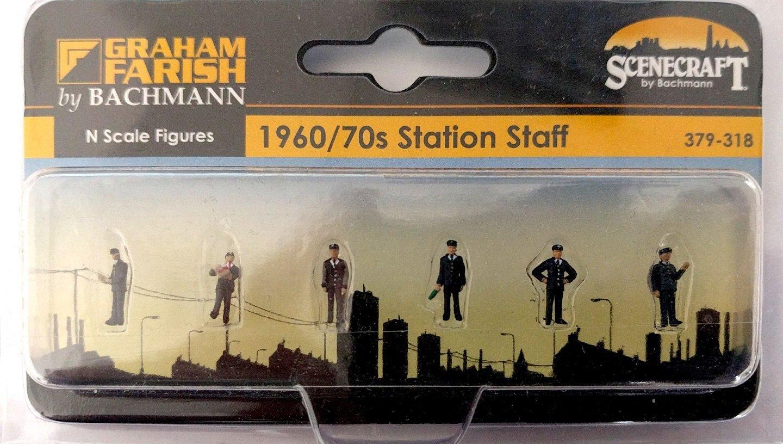 Scenecraft 379-317 Station Staff 1940s 1950s N Scale
