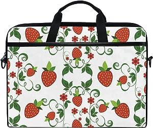 JSTEL Strawberry Laptop Shoulder Messenger Bag Case Sleeve for 14 inch to 15.6 inch with Adjustable Notebook Shoulder Strap