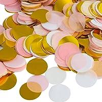 Kesote Multicolor Confeti de Papel de Forma Redonda