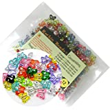 Rockin Beads Brand, 280 Mixed Acrylic Butterfly with Rhinestone Spacer Beads 11x9mm (1mm Hole)