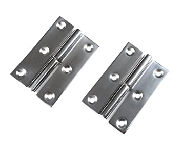 Pair of Marine Boat DOOR HINGES Stainless Steel