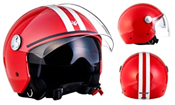 "Armor · AV-63 ""Fun Red"" (red) · Casco moto Demi"