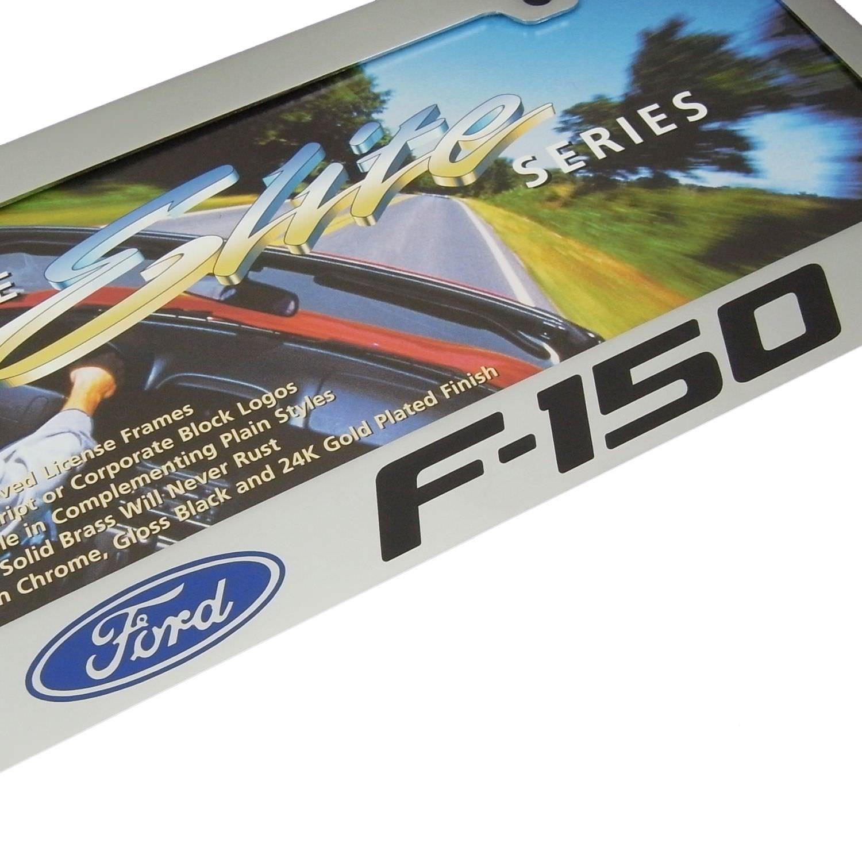 Ford F-150 2010 Chrome Brass License Plate Frame EL
