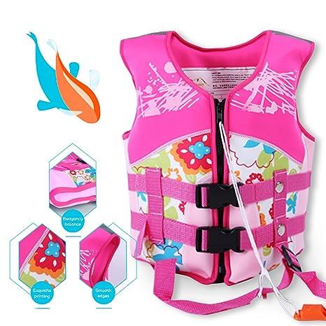 Supfirefly - Chaleco de Neopreno para Niños con Diseño de flotadores de Piscina, para Flotar