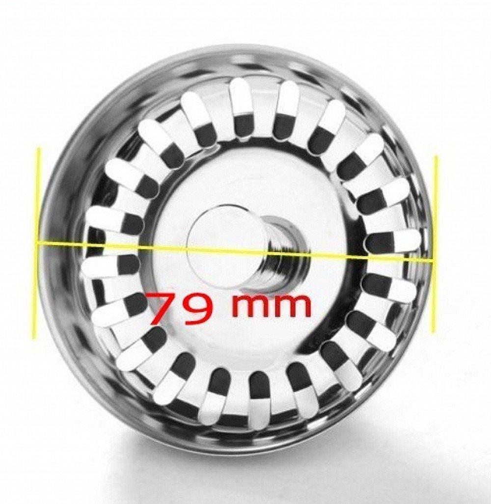 JZK® 79 mm - Tappo filtro lavello scarico acciaio inox filtri per ...