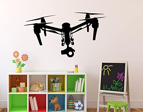 Amazon.com: Drone with Camera Wall Vinyl Decal Air Quadcopter Wall ...