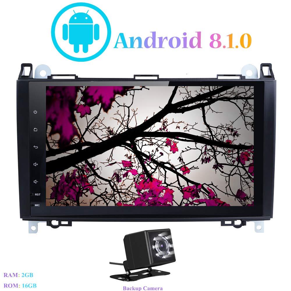 Viano Android 8.1.0 Autoradio mit DVR B-W245 Hi-azul Car Radio In-Dash 9 Zoll Car Stereo GPS Navigation Moniciver Navi 4-Core Car Audio f/ür Mercedes-Benz Sprinter A-W169 Vito