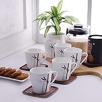 Clay Craft Master MW Bone China Coffee Mug Set, 150ml, Set of 6, Multicolour6 Pcs. Coffee Mugs- (CM-MASTER-MW-J051)