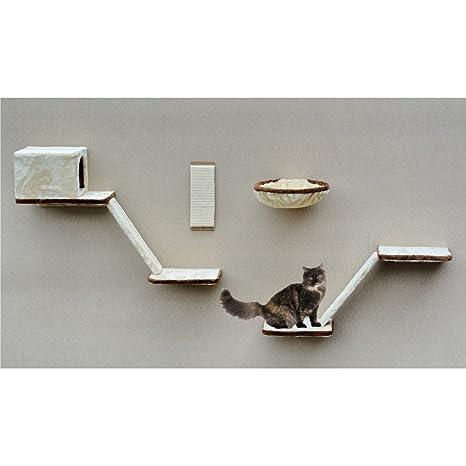 Silvio Design 21908.000 Juego de Escalada de Montaje en Pared para Gatos, 8 Piezas,