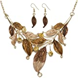 GINKAY Bohemian Leaves Charming Necklace Earrings Set Seasons Theme