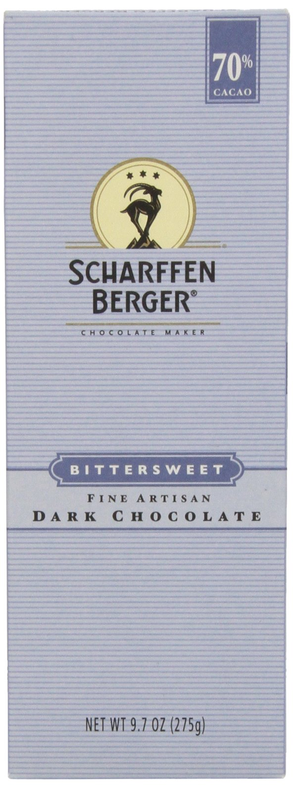 Scharffen Berger Baking Bar, Bittersweet Dark Chocolate (70% Cacao), 9.7-Ounce Packages (Pack of 3)