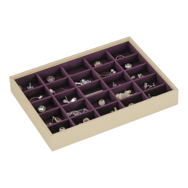 Amazoncom Stackers Jewelry Box classic cream purple criss