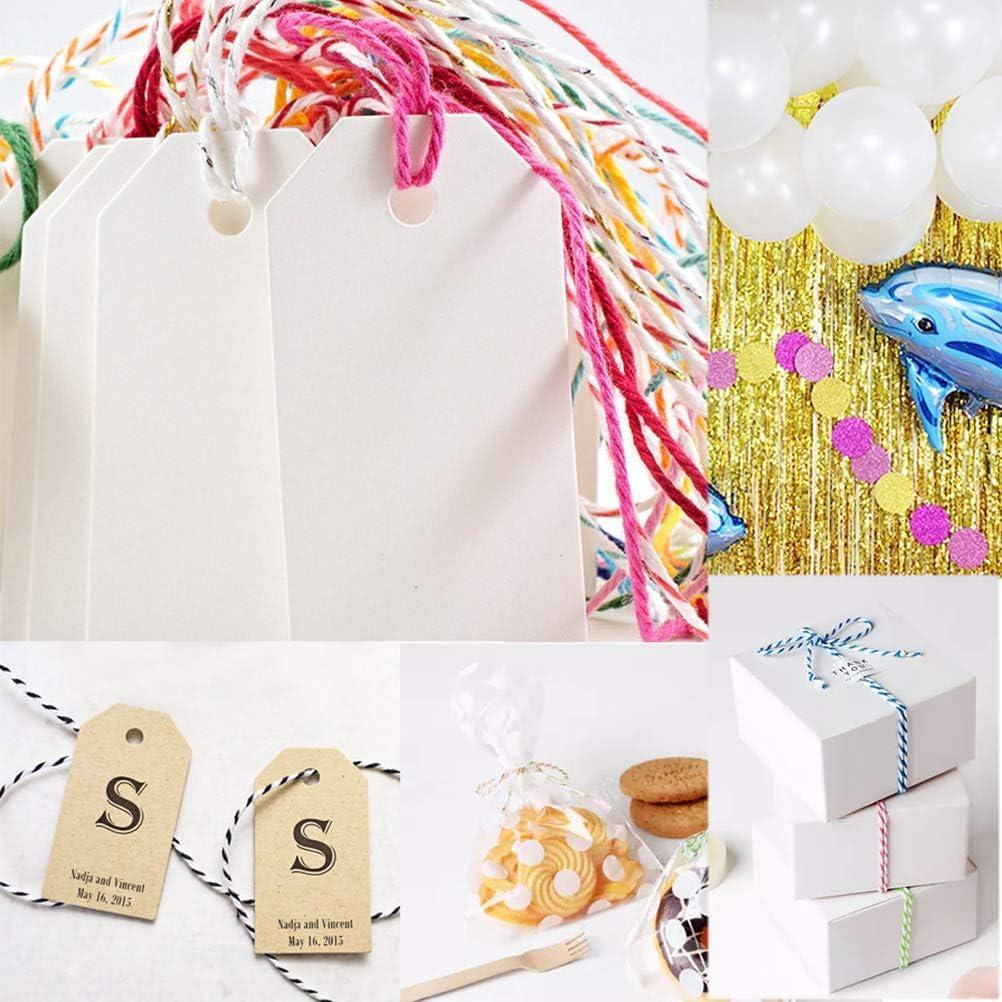 200 metri di corda natalizia per lavoretti natalizi 2 rotoli di spago natalizio per cucina e fai da te HOMEJIA lavori creativi e pacchi regalo Oro e nero. etichette