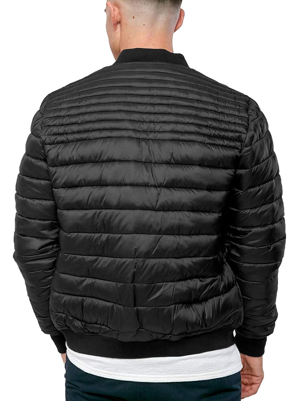 Threadbare Mens Quilted MA1 Bomber Jacket Padded Coat Winter Fashion Naples at Amazon Mens Clothing store: