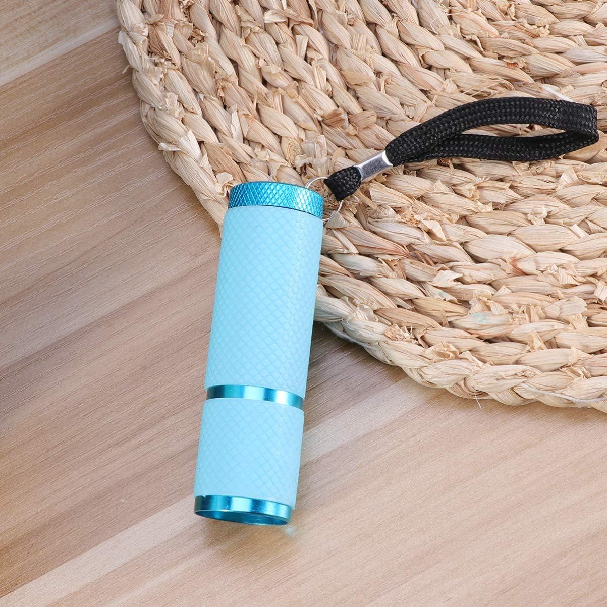 Rosa Beaupretty Mini Linterna Led Uv Luz Negra Detector de Linternas Herramienta de Iluminaci/ón Exterior para Acampar Viajes de Senderismo sin Bater/ía