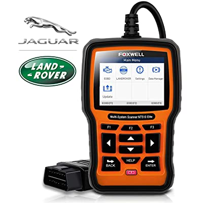 FOXWELL NT510 Elite Professional Automotive OBD2 Scanner for Land Rover and Jaguar Code Reader Full Systems Bi-Directional Diagnostic Scan Tool with HVAC ABS Airbag EPB Transmission Oil Light Reset: Automotive