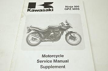 amazon com kawasaki 99924 1172 51 ninja 500 gpz 500s service manual rh amazon com kawasaki gpz 500 service manual kawasaki gpz 500 repair manual