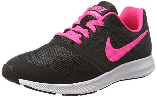 Nike Downshifter 7 (GS), Scarpe da Trail Running Bambina, Nero (Black/Hyper rosa-White), 38 EU