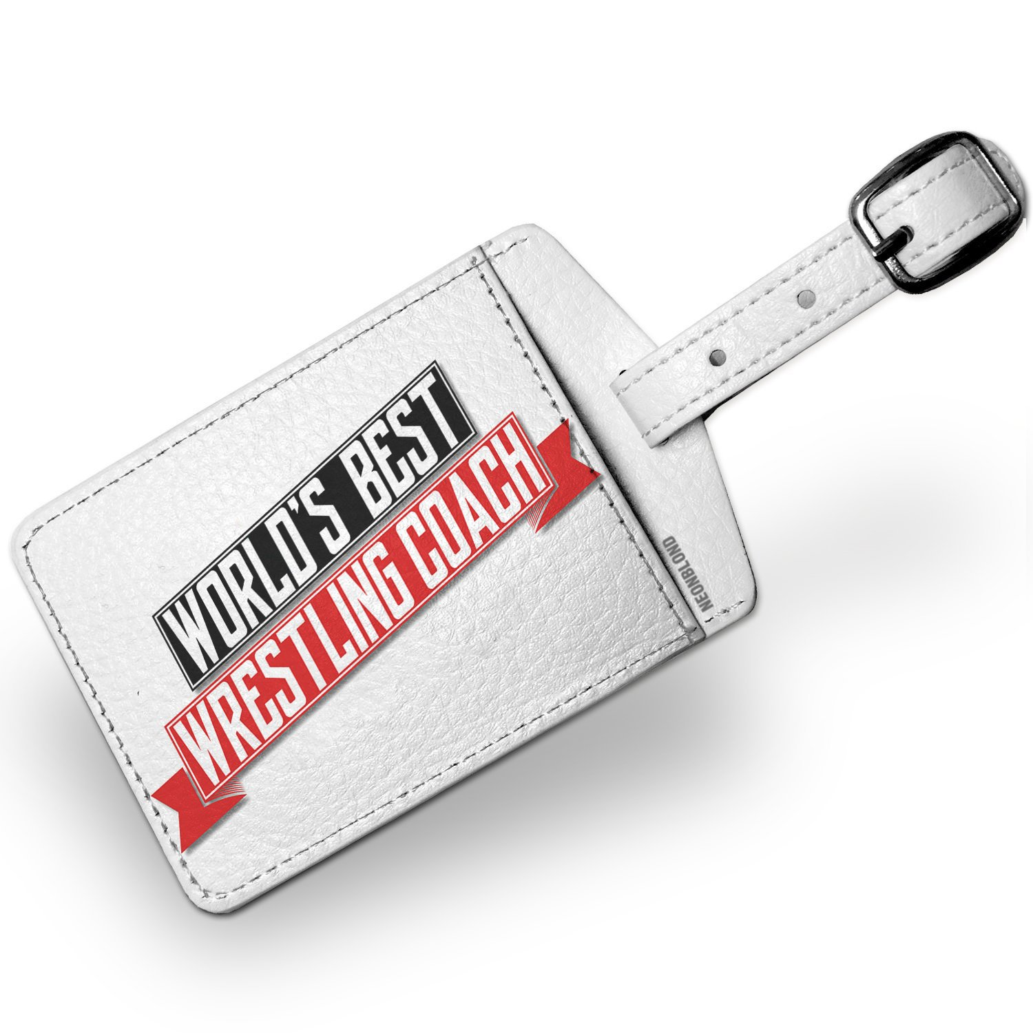 Luggage Tag Worlds Best Wrestling Coach - NEONBLOND