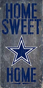 "Fan Creations Dallas Cowboys Home Sweet Home Wood Sign 12""x6"""