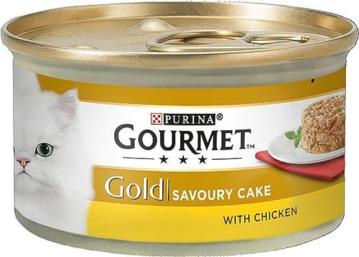 Gourmet Lata de Comida húmeda para Gatos Adultos Gold, Sabor ...