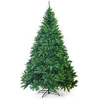 Ariv Green Hinged Christmas Tree 2.4M 8FT Xmas Tree 1980 Tips Bushy Branches Metal Stand Easy Assemble Chistmas Gift