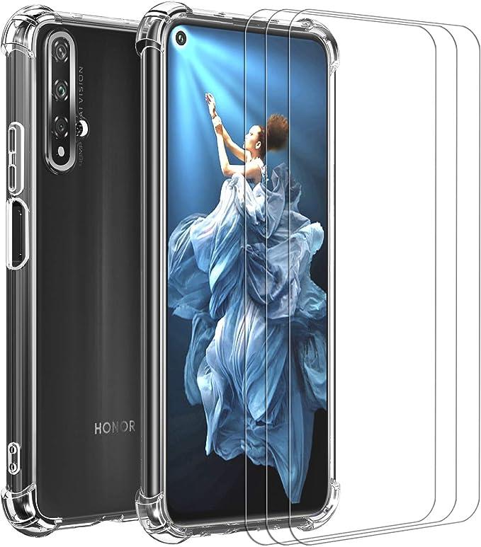 ivoler Funda para Huawei Nova 5T / Honor 20 + [3 Unidades] Cristal ...