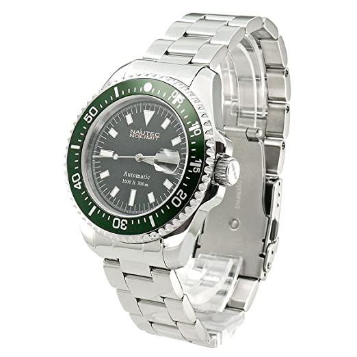 03f8686510f Nautec No Limit Gents Watch Deep Sea DS 6300/STGR: Amazon.co.uk: Watches