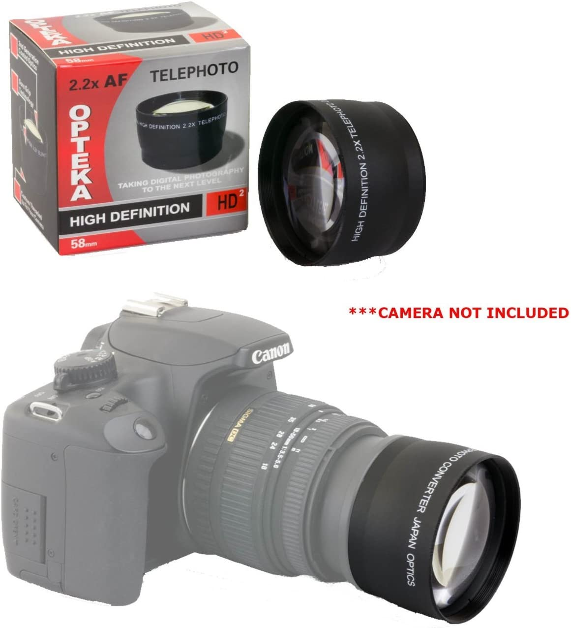 10 Piece Ultimate Lens Package For the Sony Alpha A33 A35 A55 A65 A580 A99 A37 A77 A37 A5000 NEX-7 NEX-3N Includes .43x High Definition II Wide Angle Panoramic Macro Fisheye Lens 2.2x Extreme High Definition AF Telephoto Lens Professional 5 Piece Filte