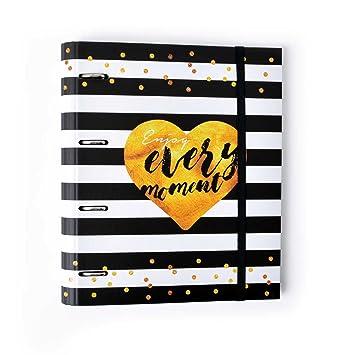 Grupo Erik Editores Premium Glitter - Carpeta troquelada, 4 anillas, 32 x 27.5 cm: Amazon.es: Oficina y papelería