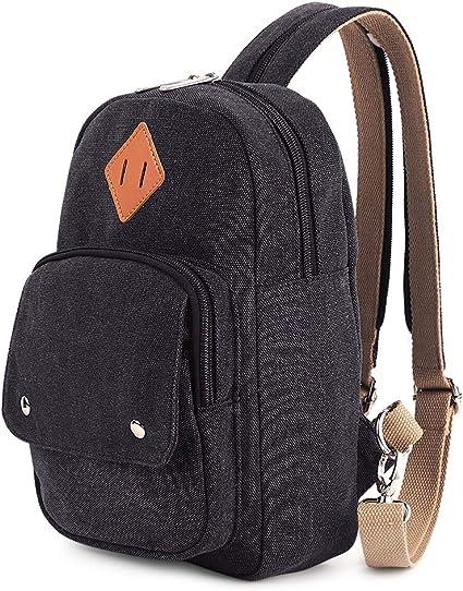 Men Women Canvas Sport Outdoor Phone Holder Small Arm Bag