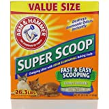 Arm & Hammer Super Scoop Clumping Litter, Unscented, 26.3 -Pound