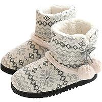 tqgold® Zapatillas de Estar por Casa Mujer Bota Pantuflas Cerradas Invierno Interior Antideslizante Suaves Peluche…