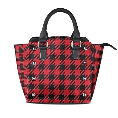 Amazon.com: Bolso de mano para mujer, color rojo y negro ...